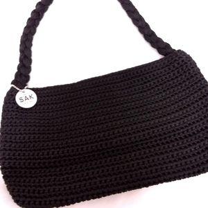 The Original Sak Black Crocheted Handbag